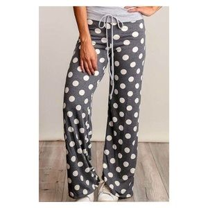 Grey Polka Dot Pajama Pants